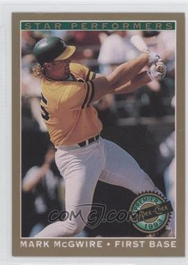 1993 O-Pee-Chee Premier Star Performers #16 - Mark McGwire