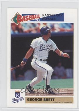 1993 Panini Album Stickers #110 - George Brett