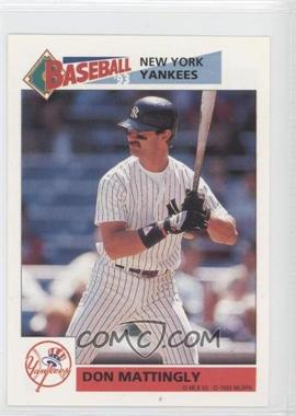 1993 Panini Album Stickers #154 - Don Mattingly