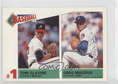 1993 Panini Album Stickers #159 - Tom Glavine, Greg Maddux