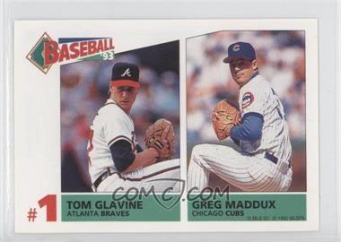 1993 Panini Album Stickers #159 - Tom Glavine, Greg Maddux