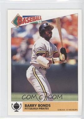 1993 Panini Album Stickers #165 - Barry Bonds