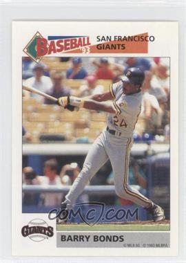 1993 Panini Album Stickers #243 - Barry Bonds