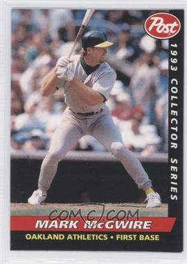 1993 Post - Food Issue [Base] #19 - Mark McGwire