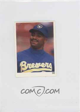 1993 Red Foley's Best Baseball Book Ever Stickers - [Base] #98 - Greg Vaughn