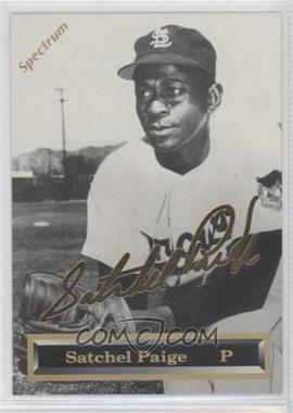 1993 Spectrum 24K Gold Signatures - [Base] #3 - Satchel Paige /5000