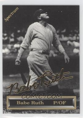 1993 Spectrum 24K Gold Signatures #1 - Babe Ruth /5000
