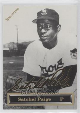 1993 Spectrum 24K Gold Signatures #3 - Satchel Paige /5000