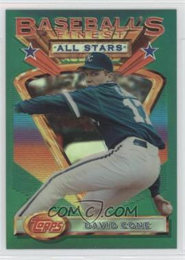 1993 Topps Finest - [Base] - Refractor #115 - David Cone