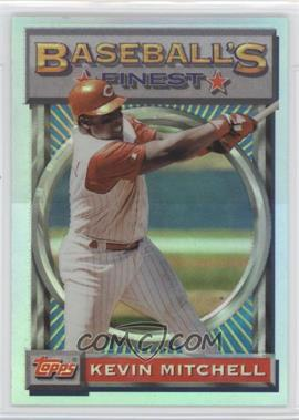 1993 Topps Finest - [Base] - Refractor #136 - Kevin Mitchell