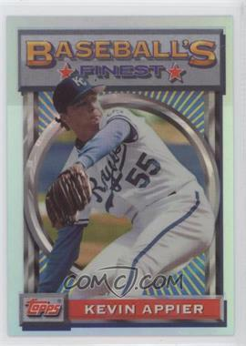 1993 Topps Finest - [Base] - Refractor #78 - Kevin Appier