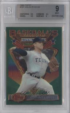 1993 Topps Finest - [Base] #107 - Nolan Ryan [BGS 9]