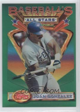 1993 Topps Finest Refractor #116 - Juan Gonzalez