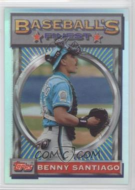 1993 Topps Finest Refractor #138 - Benito Santiago