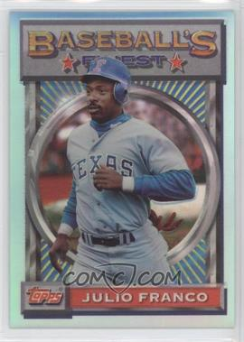 1993 Topps Finest Refractor #161 - Julio Franco