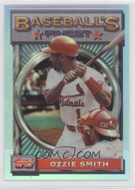 1993 Topps Finest Refractor #28 - Ozzie Smith