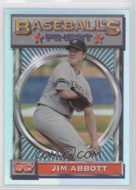 1993 Topps Finest Refractor #46 - Jim Abbott