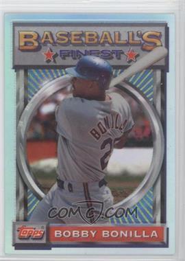 1993 Topps Finest Refractor #66 - Bobby Bonilla