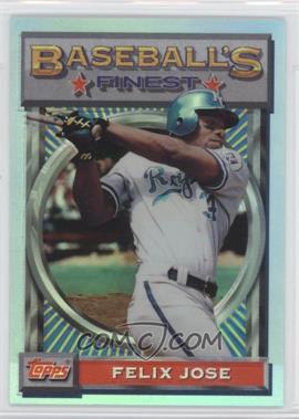 1993 Topps Finest Refractor #81 - Felix Jose