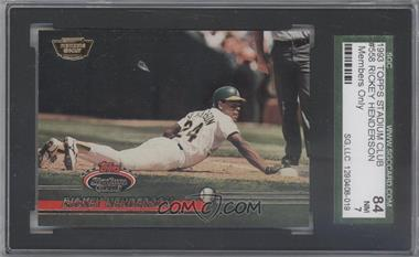 1993 Topps Stadium Club - [Base] - Members Only #558 - Rickey Henderson [SGC 84]