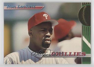 1993 Topps Stadium Club Teams Philadelphia Phillies #26 - Ron Lockett