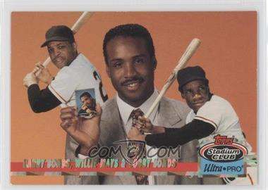 1993 Topps Stadium Club Ultra-Pro Box Topper [Base] #1 - Willie Mays, Barry Bonds /150000