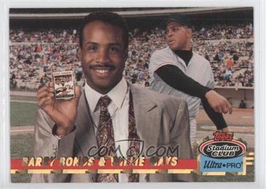 1993 Topps Stadium Club Ultra-Pro Box Topper [Base] #8 - Barry Bonds, Willie Mays /150000