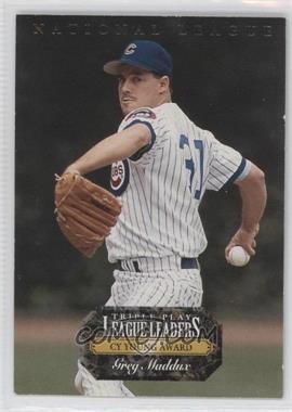 1993 Triple Play - League Leaders #L2 - Greg Maddux, Dennis Eckersley