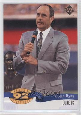 1993 Upper Deck Season Highlights #HI 17 - Nolan Ryan
