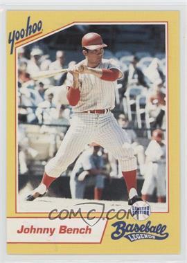 1993 Yoo-Hoo Limited Edition Baseball Legends - [Base] #JOBE - Johnny Bench