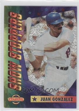 1994 Church's Chicken Show Stoppers Restaurant [Base] #1 - Juan Gonzalez
