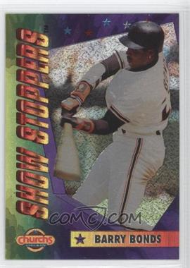 1994 Church's Chicken Show Stoppers Restaurant [Base] #2 - Barry Bonds