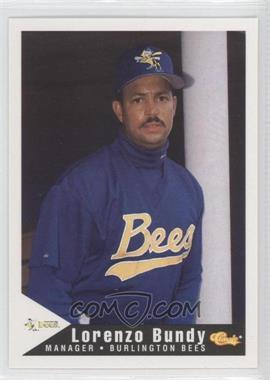 1994 Classic Burlington Bees - [Base] #26 - Lorenzo Bundy