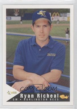 1994 Classic Burlington Bees #29 - Ryan Richmond