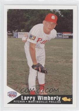 1994 Classic Martinsville Phillies - [Base] #30 - Larry Wimberly