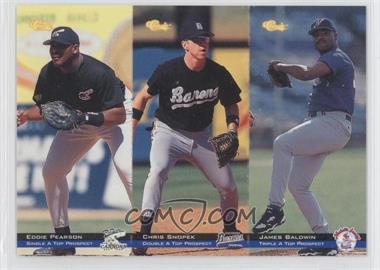 1994 Classic Minor League All Star Edition - Tri-Cards #T16-17-18 - Chris Snopek, James Baldwin, Eddie Pearson /8000