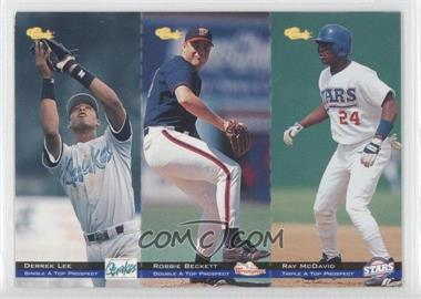 1994 Classic Minor League All Star Edition Tri-Cards #T67-68-69 - Ray McDavid, Robbie Beckett, Derrek Lee /8000