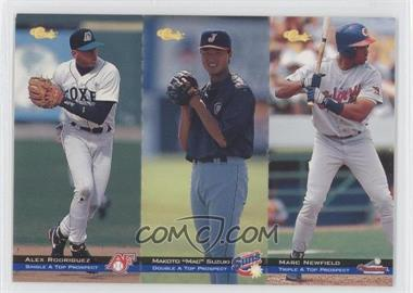 1994 Classic Minor League All Star Edition Tri-Cards #T73-74-75 - Alex Rodriguez, Mac Suzuki, Marc Newfield /8000