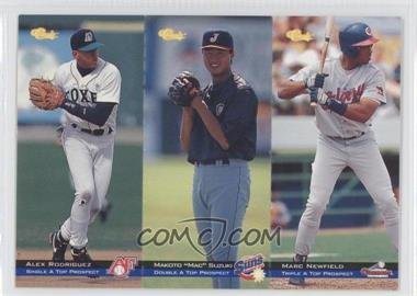 1994 Classic Minor League All Star Edition Tri-Cards #T73-74-75 - Alex Rodriguez, Mac Suzuki, Marc Newfield /8000