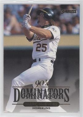1994 Donruss 90's Dominators [???] #10 - Mark McGwire