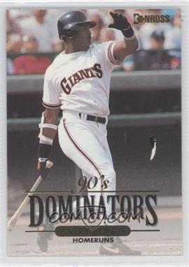1994 Donruss 90's Dominators [???] #2 - Barry Bonds