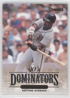 1994 Donruss 90's Dominators Batting Average #7 - Barry Bonds