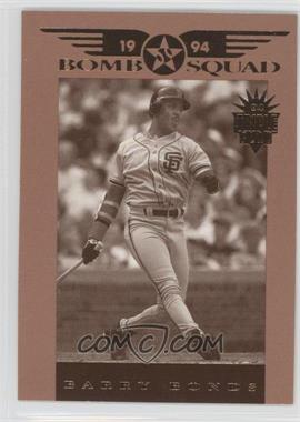 1994 Donruss Triple Play Bomb Squad #4 - Barry Bonds