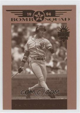 1994 Donruss Triple Play Bomb Squad #4 - Barry Bonds
