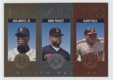 1994 Donruss Triple Play Medalists #11 - Kirby Puckett, Albert Belle