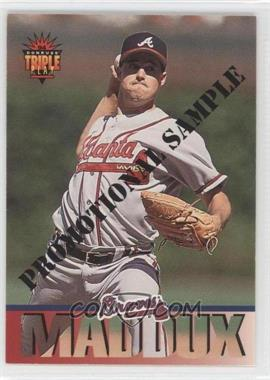 1994 Donruss Triple Play Promotional Samples #10 - Greg Maddux