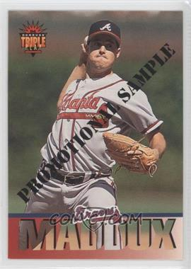 1994 Donruss Triple Play Promotional Samples #10 - Greg Maddux