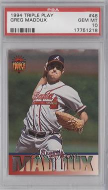 1994 Donruss Triple Play #46 - Greg Maddux [PSA 10]