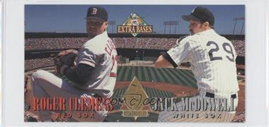 1994 Fleer Extra Bases Pitchers Duel #1 - Jack McDowell, Roger Clemens