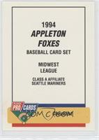 Appleton Foxes Team (Checklist)